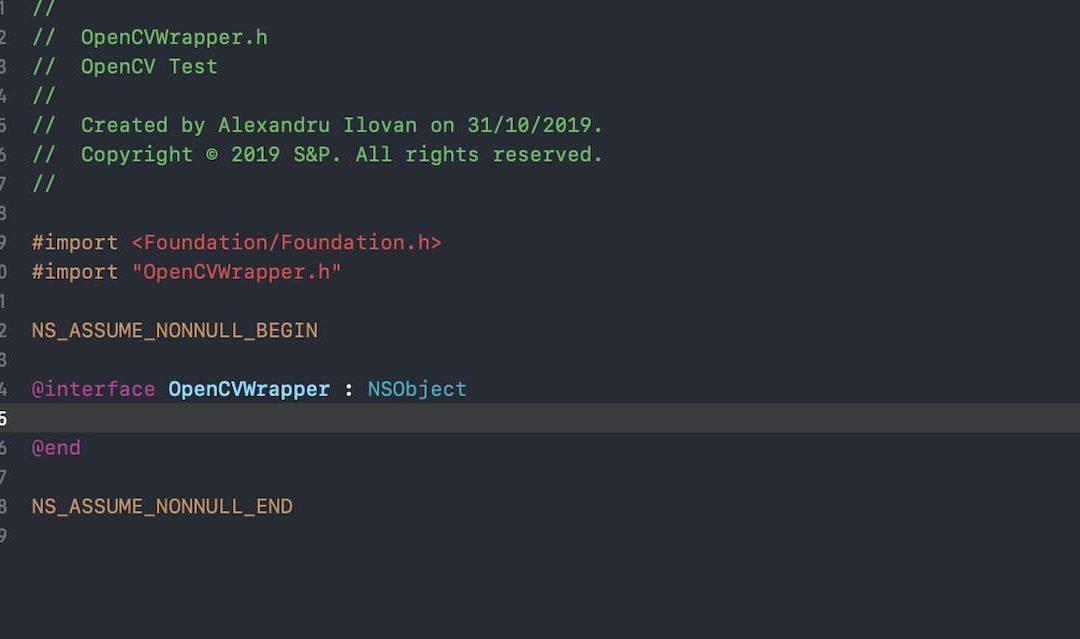 OpenCV Swift Wrapper